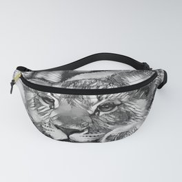AnimalArtBW_Lion_20171205_by_JAMColors Fanny Pack