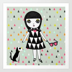 She loves her eames.  Art Print