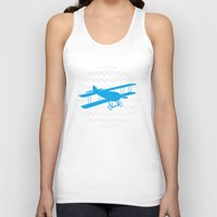 airplane Tank Tops featuring Chevron Airplane by C Designz