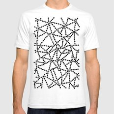 Dots Connect Mens Fitted Tee SMALL White