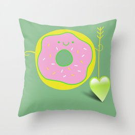 I feel a love *** happy D Throw Pillow