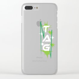 Funny Laser Tag Party T-Shirt Mode On Tag Clear iPhone Case