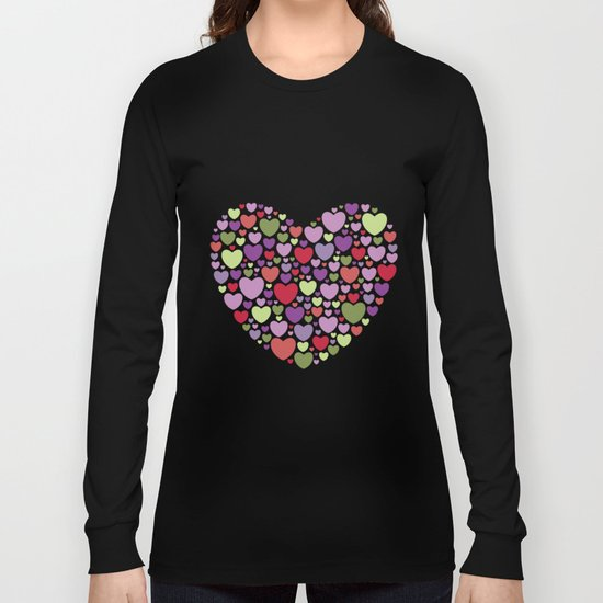 Colourful Hearts Long Sleeve T-shirt