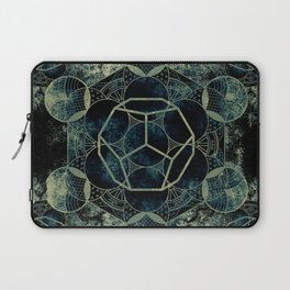 Sacred Geometry for your daily life -  Platonic Solids - ETHER Laptop Sleeve
