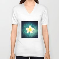 lily V-neck T-shirts featuring Lily by Ken Seligson