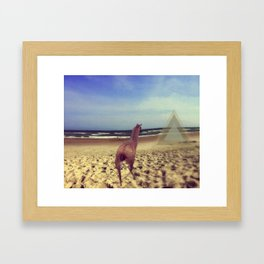 Ethereal Llama Framed Art Print