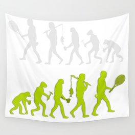 Evolution of Tennis Species Wall Tapestry