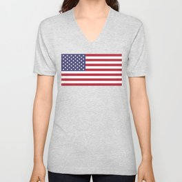 USA flag - Hi Def Authentic color & scale image Unisex V-Neck