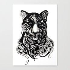 Tiger - Original Drawing  Canvas Print