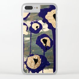 Bleeding Lilies Clear iPhone Case