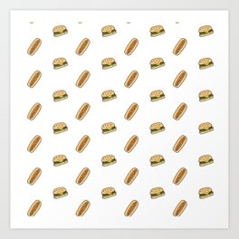 Hamburgers & Hot Dogs Art Print