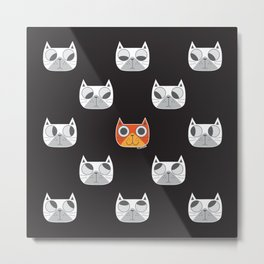 We are watching you. MEOW!!! Metal Print