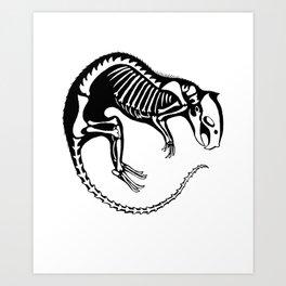 Rat Bones Art Print