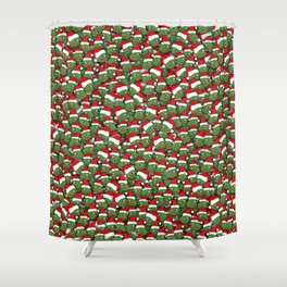 Sad christmas frogs pattern Shower Curtain