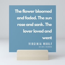 14    | Virginia Woolf Quotes | 190602 Mini Art Print