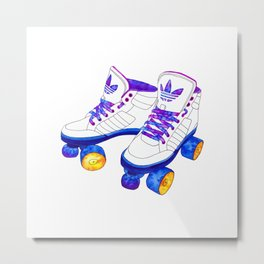 Roller Derby skaters Metal Print