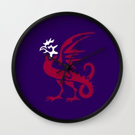 Myths & monsters: basilisk Wall Clock