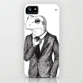 Frog in suit iPhone Case