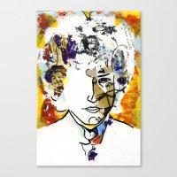 bob dylan Canvas Prints featuring bob dylan by Chris Shockley - shock schism