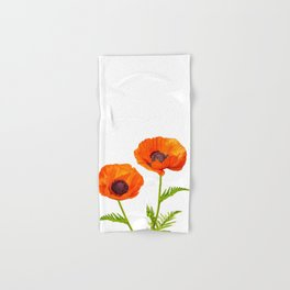 Two beautiful  poppies Hand & Bath Towel