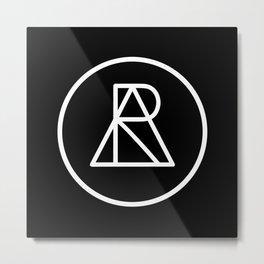 AR BLK Metal Print
