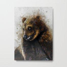 Brown Bear Art Metal Print
