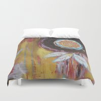 dream catcher Duvet Covers featuring Dream Catcher by Amy Walker Art