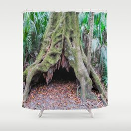 Interesting Tree Trunk Shower Curtain
