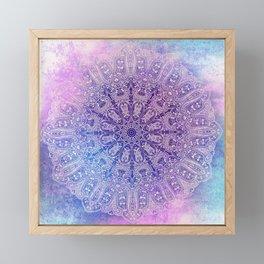 big paisley mandala in light purple Framed Mini Art Print