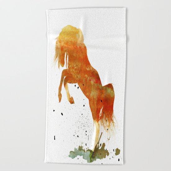 HORSES -Wild mountain pony Beach Towel