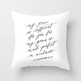 2 Corinthians 12:9 My Grace is Sufficient Throw Pillow