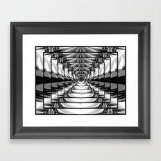 Abstract.Black+White. Framed Art Print