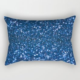 Blue Glamorous Sequins Rectangular Pillow