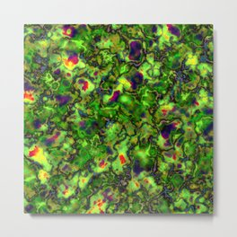 Green Marbleized Pattern Metal Print