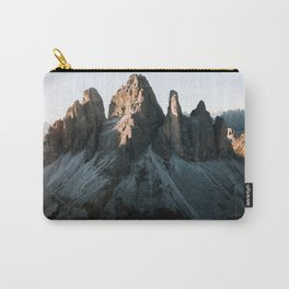 Tre Cime in the Dolomites Mountains at dusk - Landscape Photography Carry-All Pouch