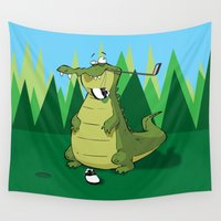 golf Wall Tapestries featuring Golf  by Tony Vazquez