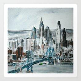 Philadelphia, Pennsylvania, USA Fine Art Acrylic Painting Art Print