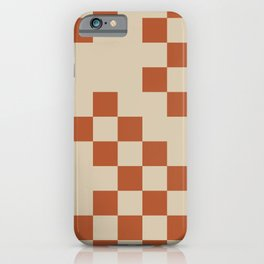 Checked in Burnt Orange iPhone Case