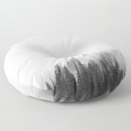 Misty Forest Floor Pillow