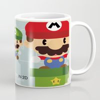 mario bros Mugs featuring mario bros 2 fan art by danvinci