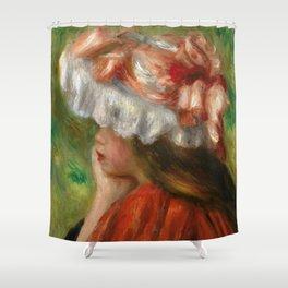 "Auguste Renoir ""Tête de jeune fille (Head of a young girl)"" Shower Curtain"
