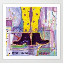 Funny Yellow Tights Art Print