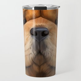 Drawing dog chow chow Travel Mug