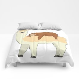 Cute Llama with a Sleeping Sloth Gift Comforters