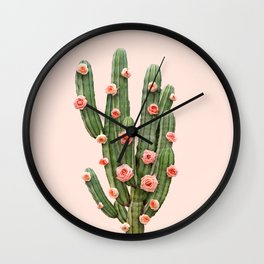 CACTUS AND ROSES Wall Clock