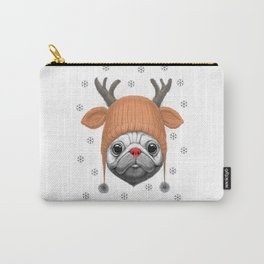 Pug Rudolph Carry-All Pouch