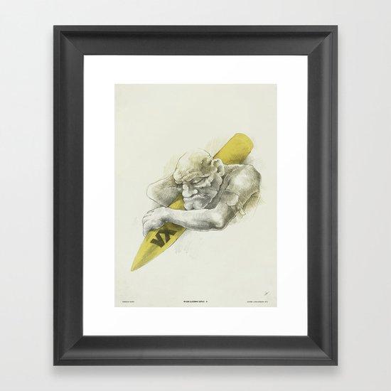 WL / I Framed Art Print