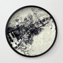 Rock guitar Wall Clock