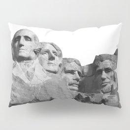 Mount Rushmore National Memorial South Dakota Presidents Faces Graphic Design Illustration Pillow Sham