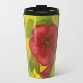Red Petunias Travel Mug